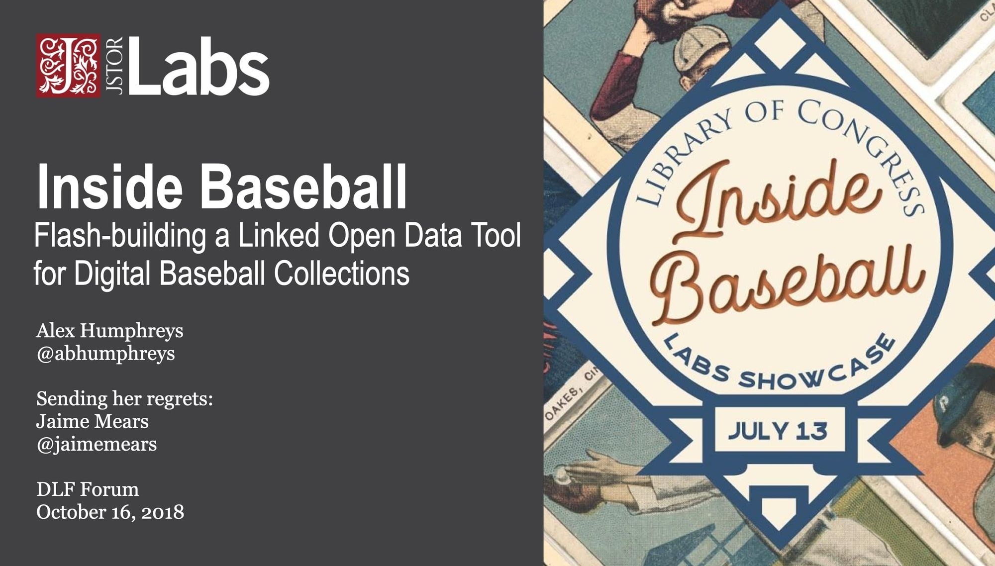 Playing Ball: Flash-building a Linked Open Data Tool for Digital Baseball Collections
