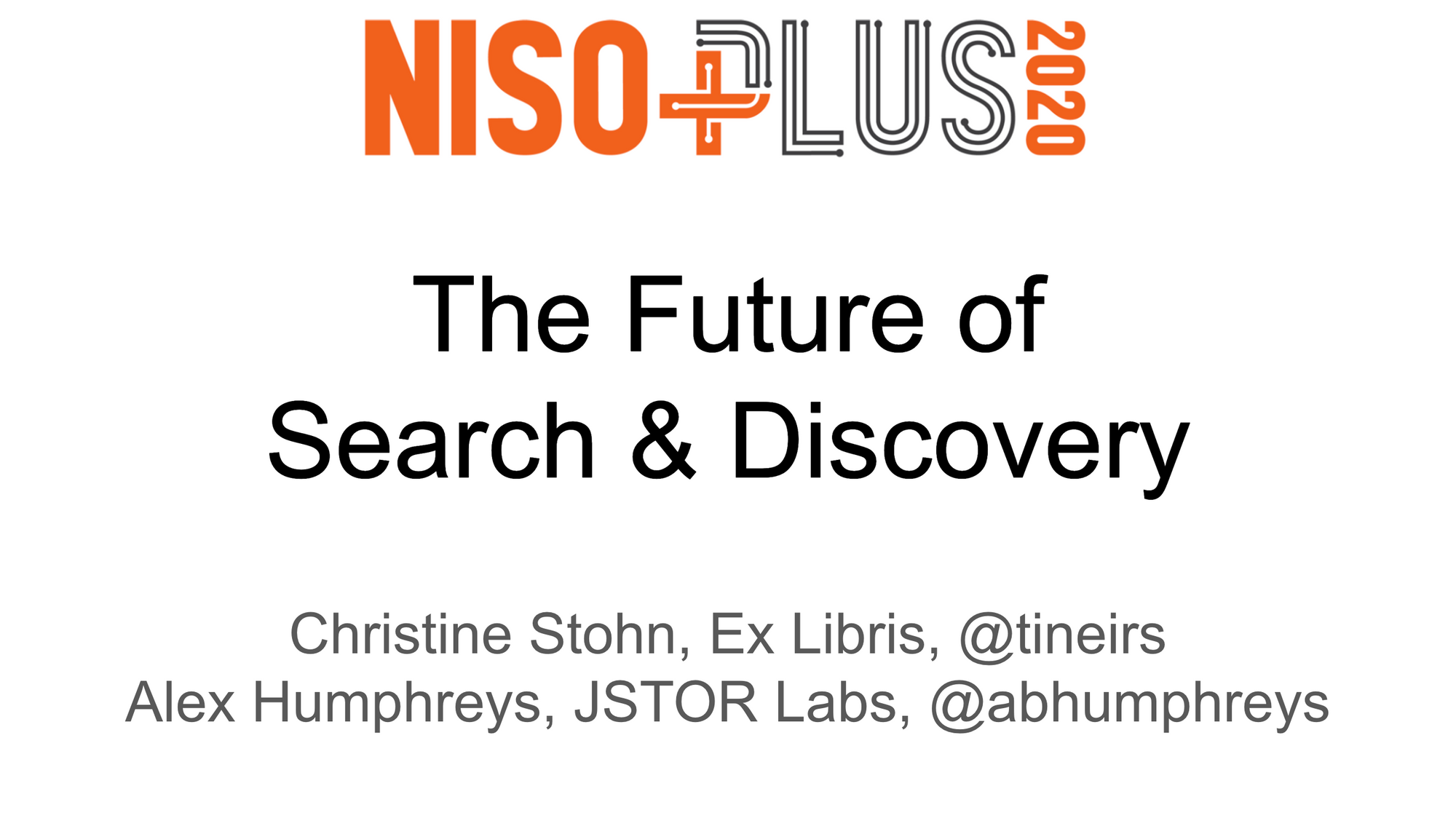 The Future of Search and Discovery