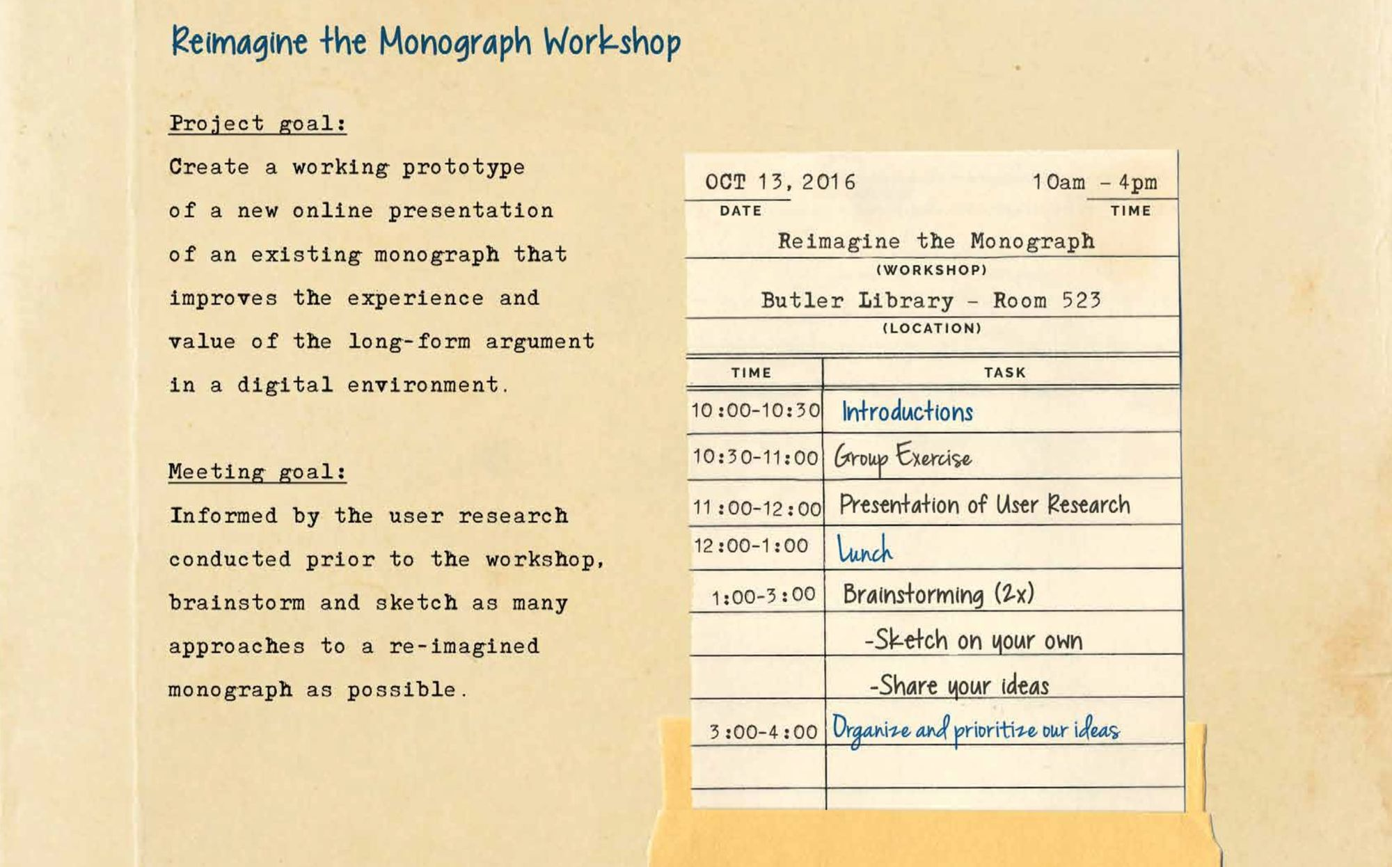 Reimagining the Monograph
