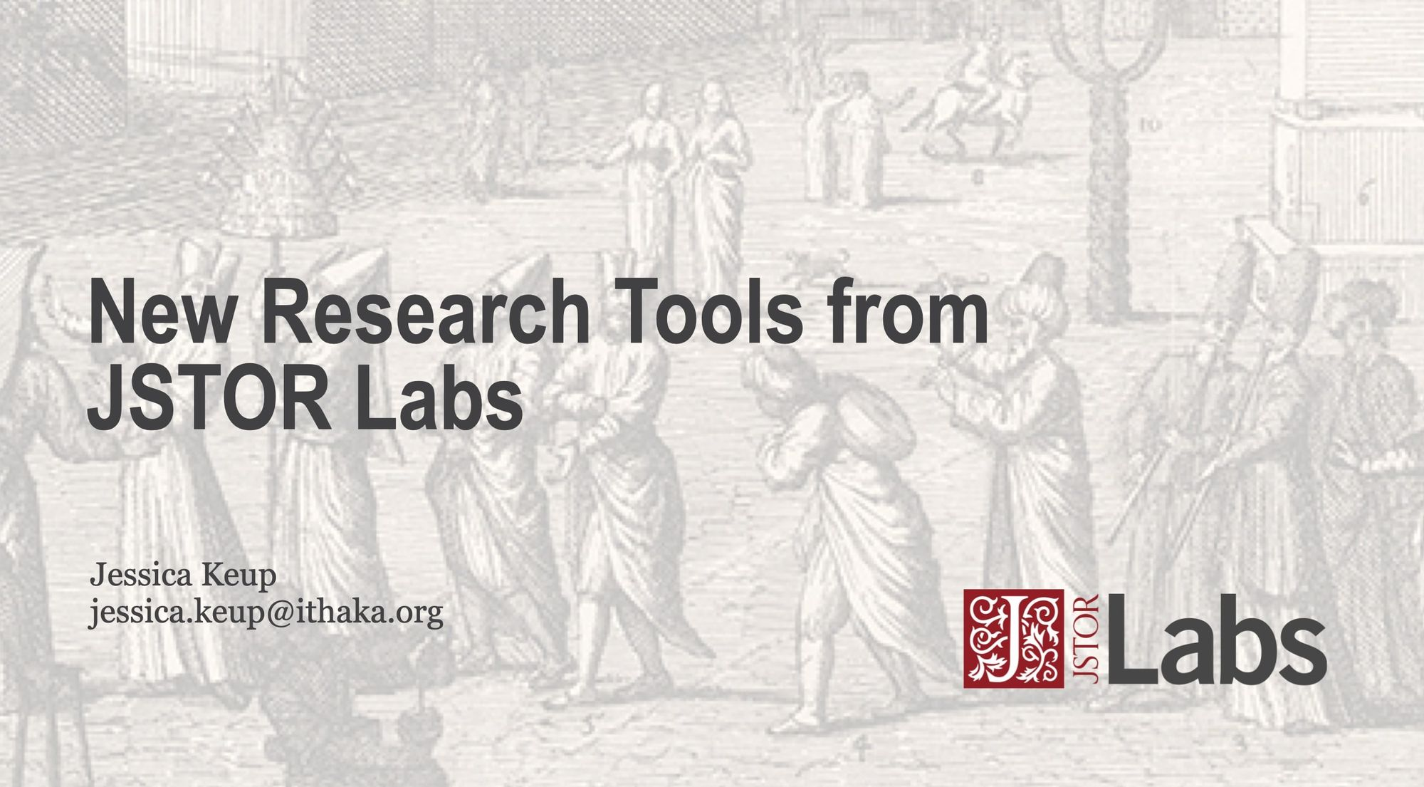 New Research Tools from JSTOR Labs