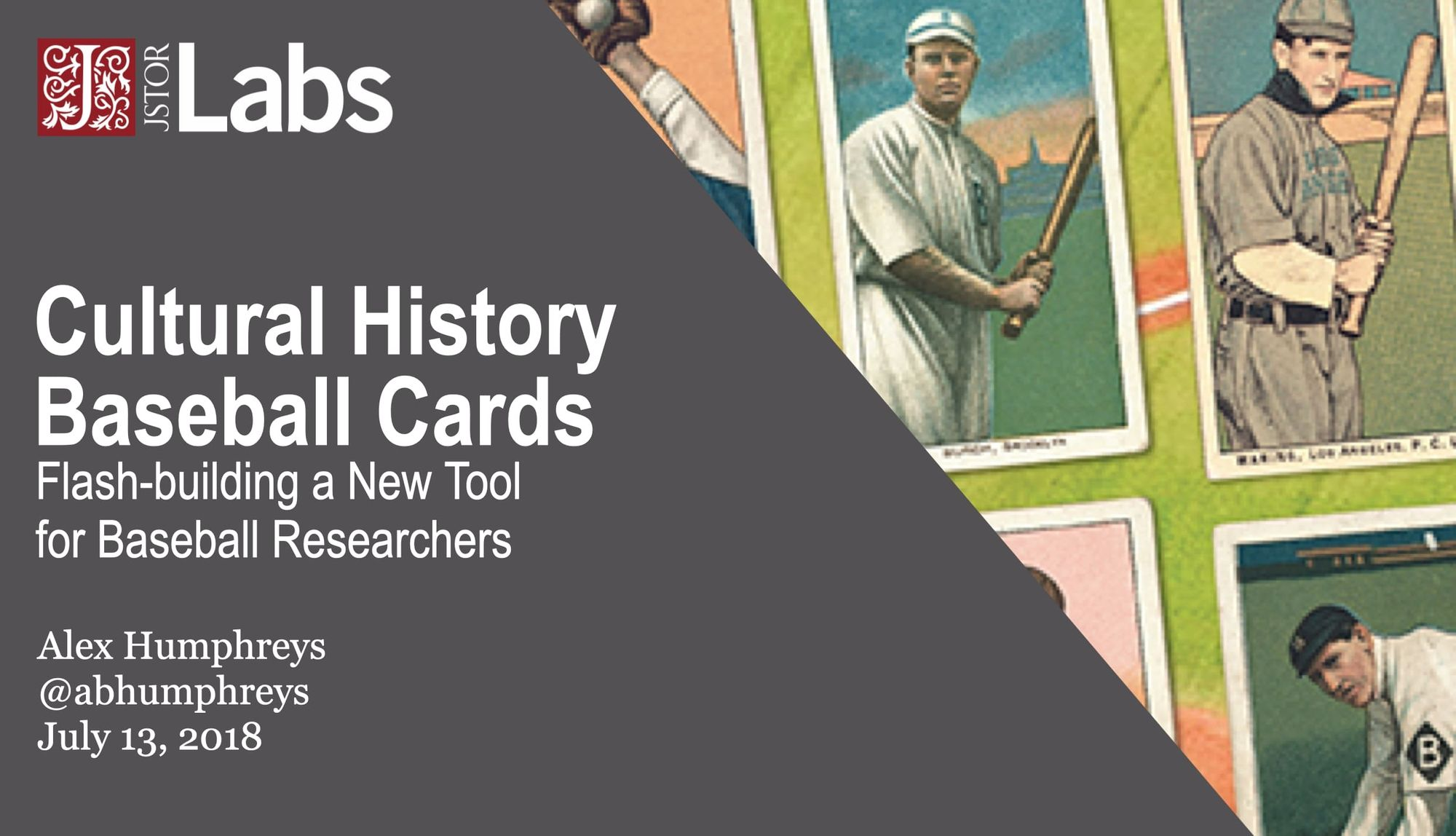 Cultural History Baseball Cards: Flash-building a New Tool for Baseball Researchers
