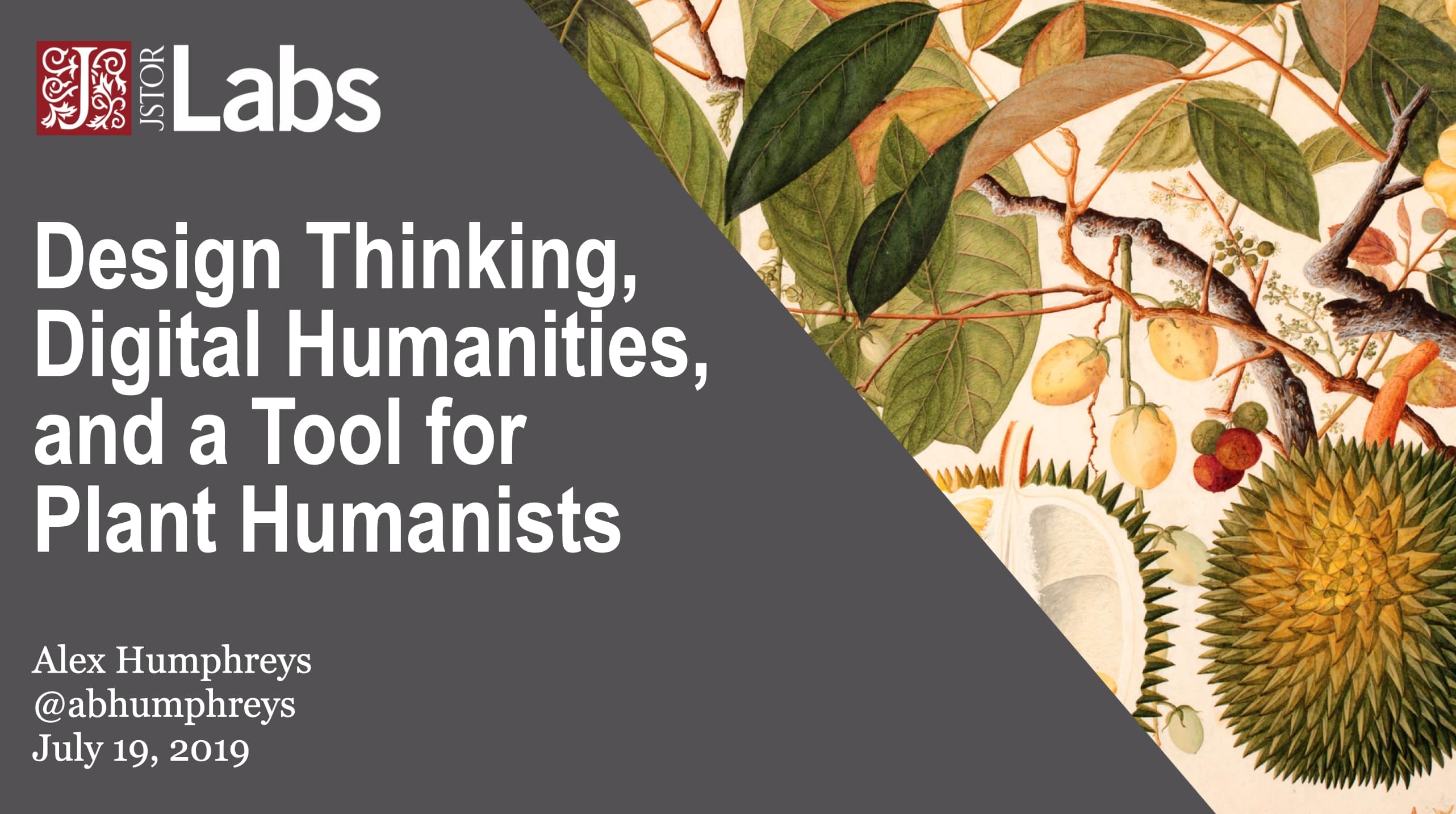 Design Thinking, Digital Humanities and a Tool for Plant Humanists